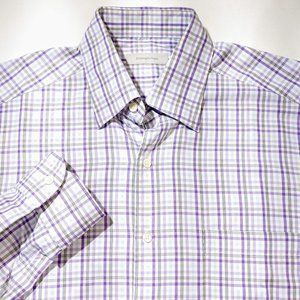 Ermenegildo Zegna Plaid Button Down Shirt Cotton